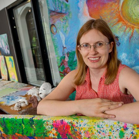 Theresa Van Lith, assistant professor of art therapy in FSU's Department of Art Education (FSU Photography Services)