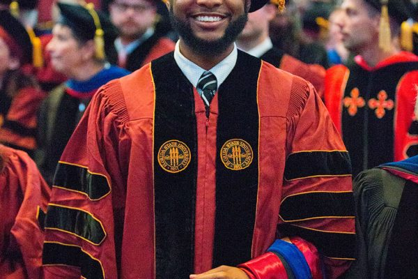 Ph.D. graduate, Christopher Harris earned a doctoral degree in music with an emphasis in choral music education.