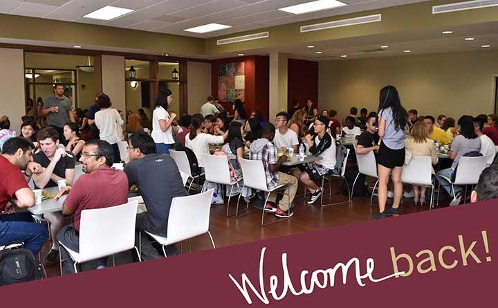 The Center For Global Engagement welcomed back international students.