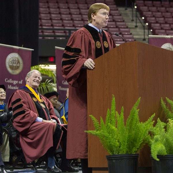Adam Putnam, Commissioner of Agriculture, at New Student Convocation Aug. 27, 2017. (FSU Photography Services)
