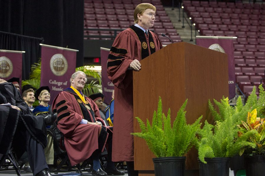 Adam Putman, Commissioner of Agriculture, at New Student Convocation Aug. 27, 2017. (FSU Photography Services)