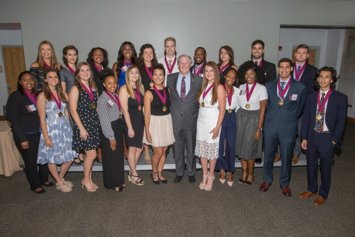 Summer 2017 new Garnet & Gold Scholar Society inductees. (Photo Cred: Photography Services)
