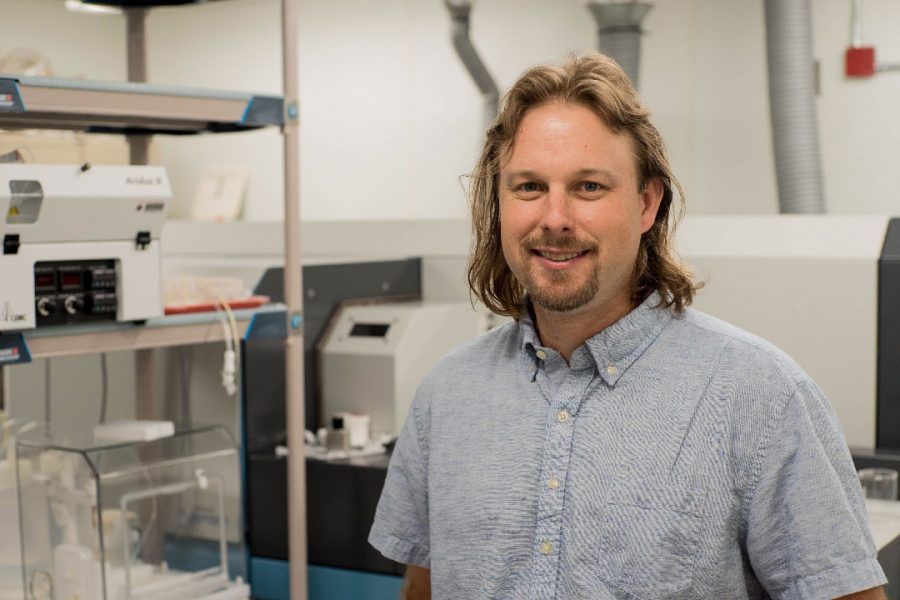 Jeremy Owens is an assistant professor of geology in the Department of Earth, Ocean and Atmospheric Sciences (Photo: Stephen Bilenky)