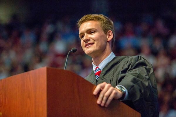 """Student Body President Kyle Hill also addressed graduates and reminded them that they will forever be united by their """"Seminole Identity."""""""