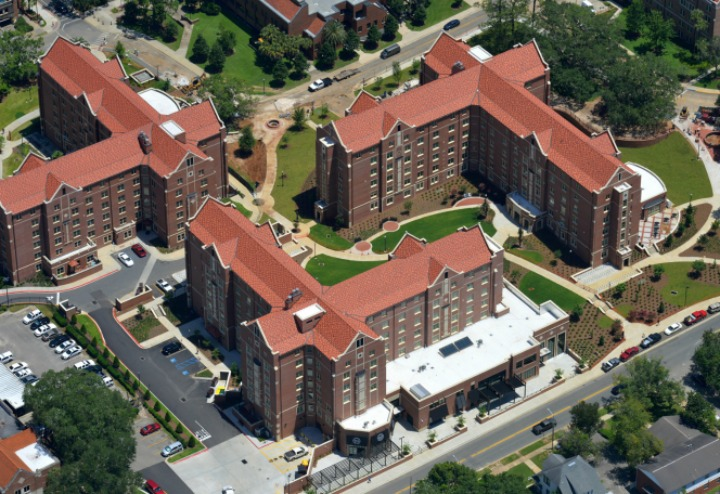 Arial view of FSU's new residence halls, Magnolia and Azalea. (Photo: University Housing)
