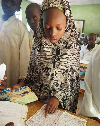 Students in a classroom in northern Nigeria, where FSU's Learning Systems Institute and Florida Center for Reading Research are teaming up with Bayero University-Kano in Nigeria to strengthen teacher education and improve children's reading skills.