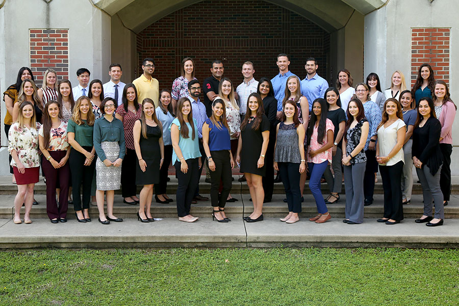 The first class of students in FSU's new School of Physician Assistant Practice.