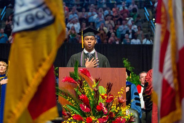 FSU Student Veteran, Kendrick Richardson led the Pledge of Allegiance.