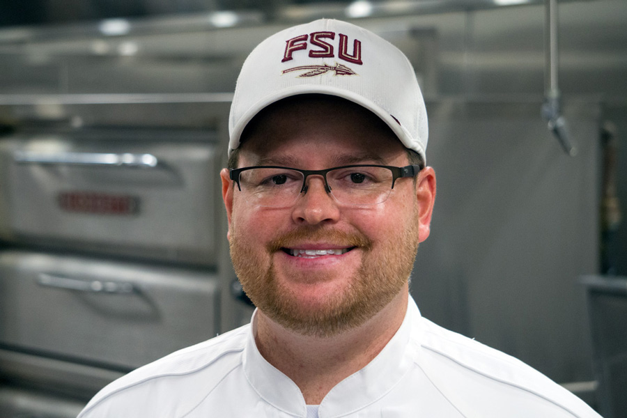 Travis Johnson is the executive chef in charge of all Seminole Dining locations at FSU.