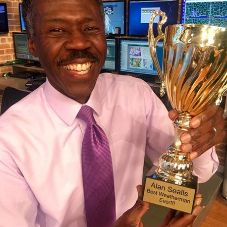 "FSU alumnus Alan Sealls has a fun moment after Reddit users recognized him as the ""Best Weatherman Ever."" (Courtesy: WKRG-TV, Mobile, Ala.)"