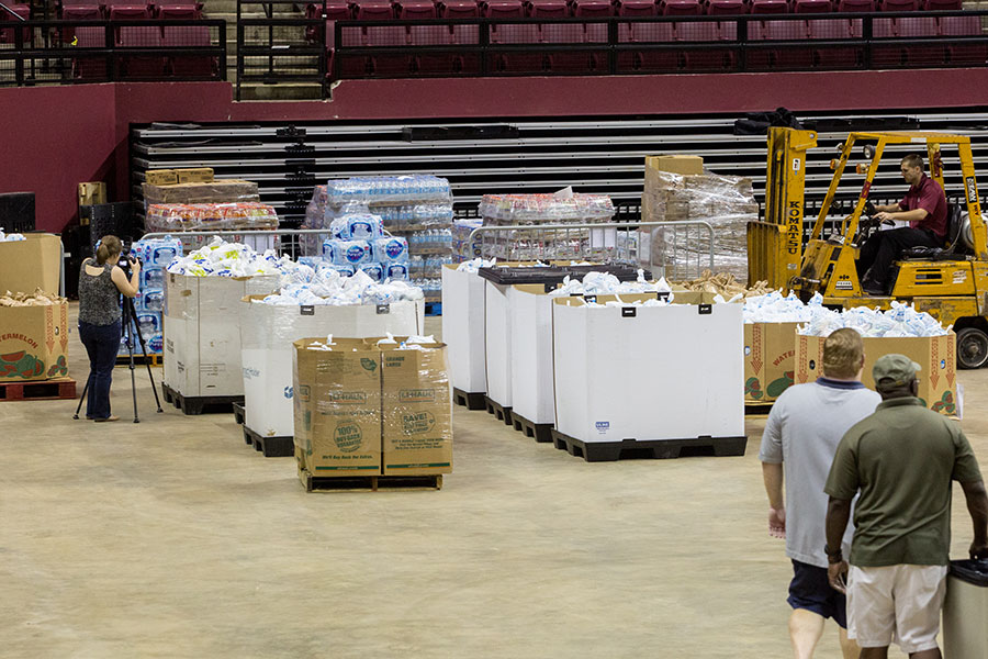 Florida State University and Leon County teamed up to send thousands of care packages to Hurricane Irma victims in South Florida, thanks to donations from local residents and businesses. (FSU Photography Services)