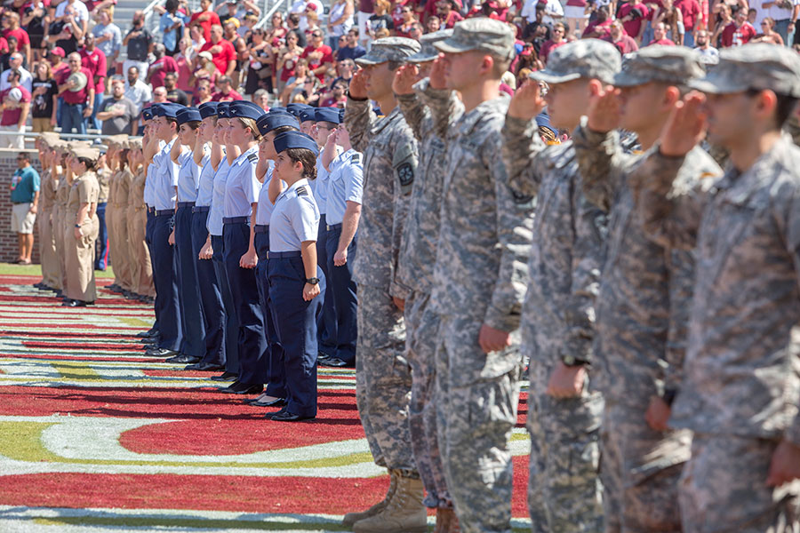 FSU football holds its annual Military Appreciation Game against NC State, Sept. 23, 2017.