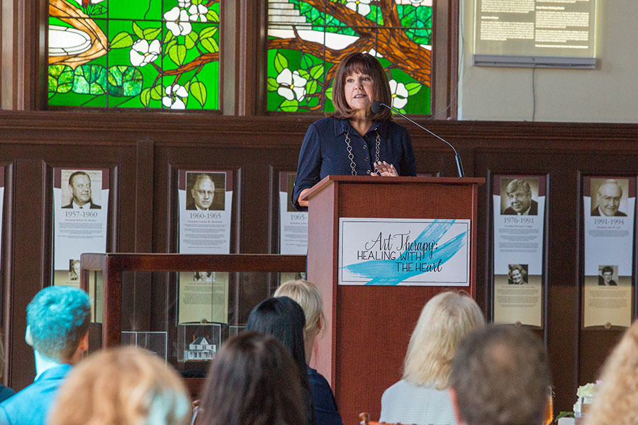 2nd Lady Karen Pence unveils art therapy initiative at FSU