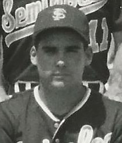 Mike Brady was a southpaw pitcher for the Seminoles during his four-year collegiate career.