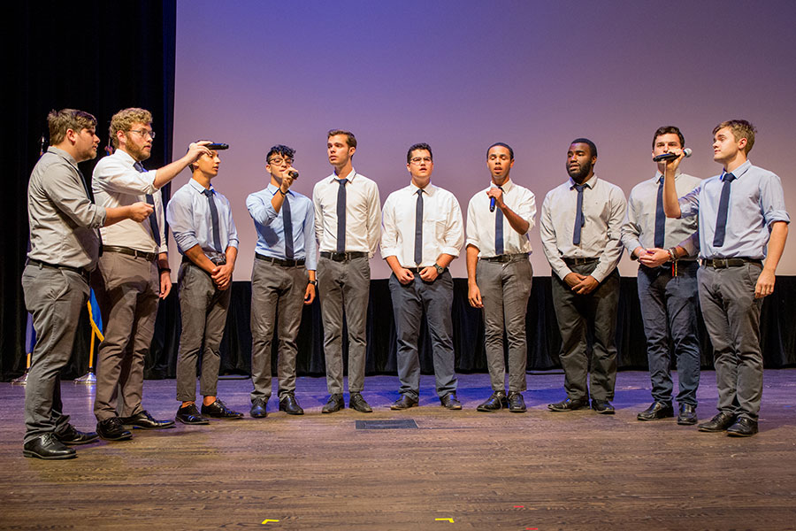 Reverb performs at the FSU Veterans Film Festival Oct. 5, 2017, at Ruby Diamond Concert Hall. (FSU Photography Services)