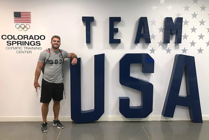 """Williamson has performed well in all areas of bobsledding, but he's especially excelled at the """"push test,"""" which measures how fast an athlete can push a sled over a certain distance. (Photo: U.S. Olympic Committee)"""