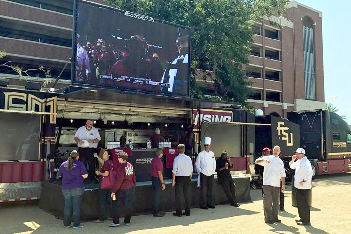 The Seminoles Cruising Kitchen is designed to treat football fans to great food and entertainment.