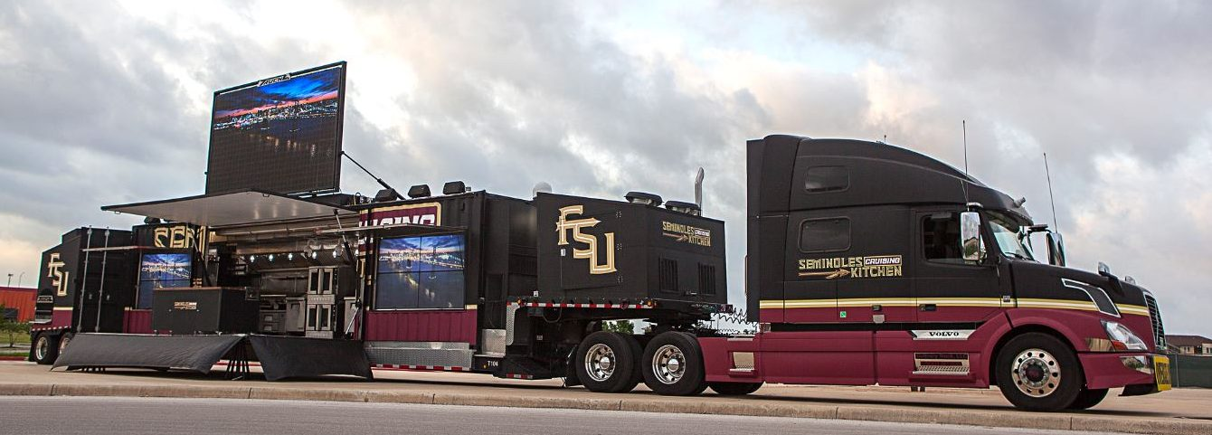 The Seminoles Cruising Kitchen is the largest custom-mobile kitchen in the United States.