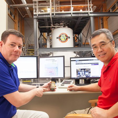 Samuel Grant, associate professor of chemical and biomedical engineering and director of the MRI user program at the FSU-headquartered National High Magnetic Field Laboratory, and Teng Ma, professor and chair of the Department of Chemical and Biomedical Engineering