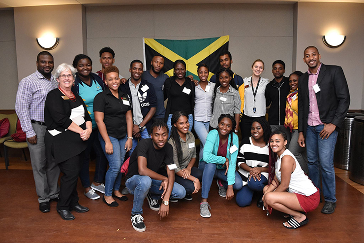 University of West Indies students interacted with FSU students in the Beyond Borders program and the greater FSU community. (Photo: Center for Global Engagement)