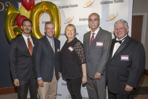 (From Left to Right: Frank Nero, Florence Study Center Director; Ignacio Messana, Valencia Study Center Director; Kathleen Paul, London Study Centre Director; Carlos Langoni, Panama Director; and Jim Pitts, International Programs Director. (Photo: FSU Photography Services)