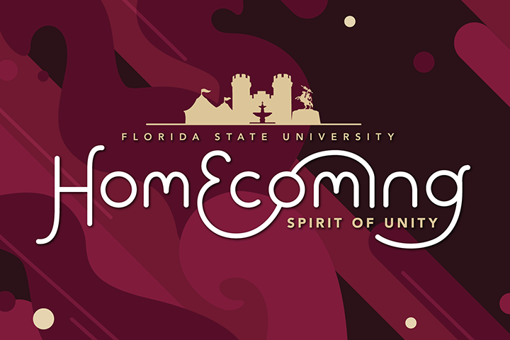 "Florida State University will host its annual Homecoming Week celebration with the theme ""Spirit of Unity"" beginning Sunday, Nov. 12, through Saturday, Nov. 18. (Photo: Division of Student Affairs)"