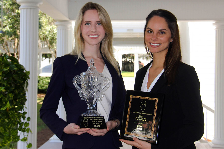 Law students Keriann Smith and Catie Messinger won first place in the 2017 Appellate Lawyers Association National Moot Court Competition.