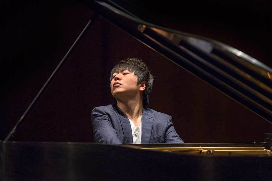 Popular Chinese concert pianist Lang Lang performs in Ruby Diamond Concert Hall during his Opening Nights Performing Arts appearance.