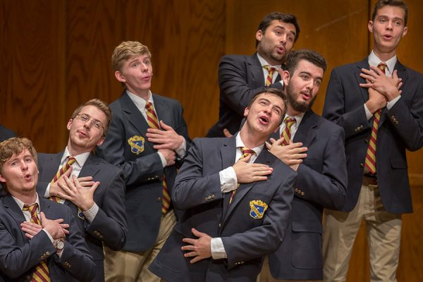 A group performs during FSU's Glee Concert.