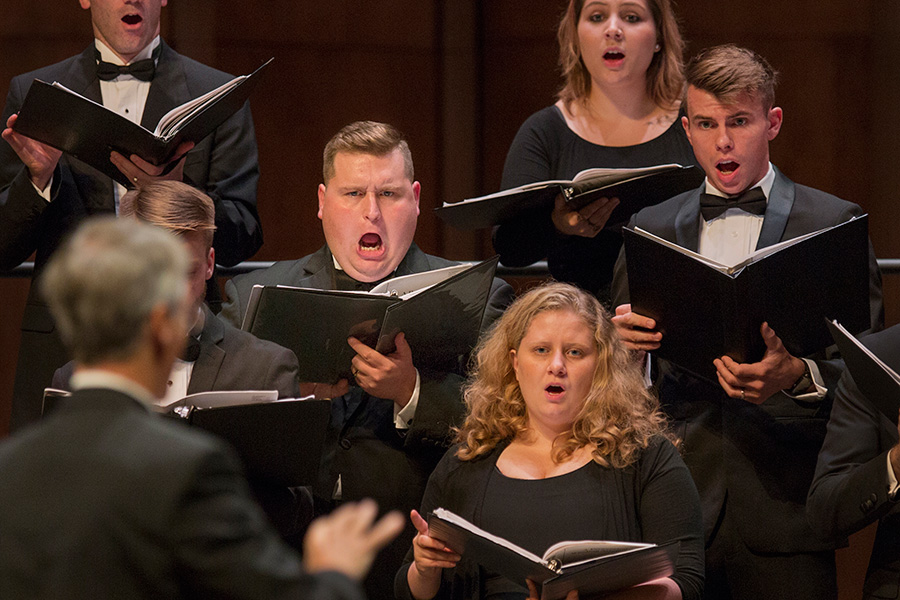 FSU's University Chamber Choir performs.