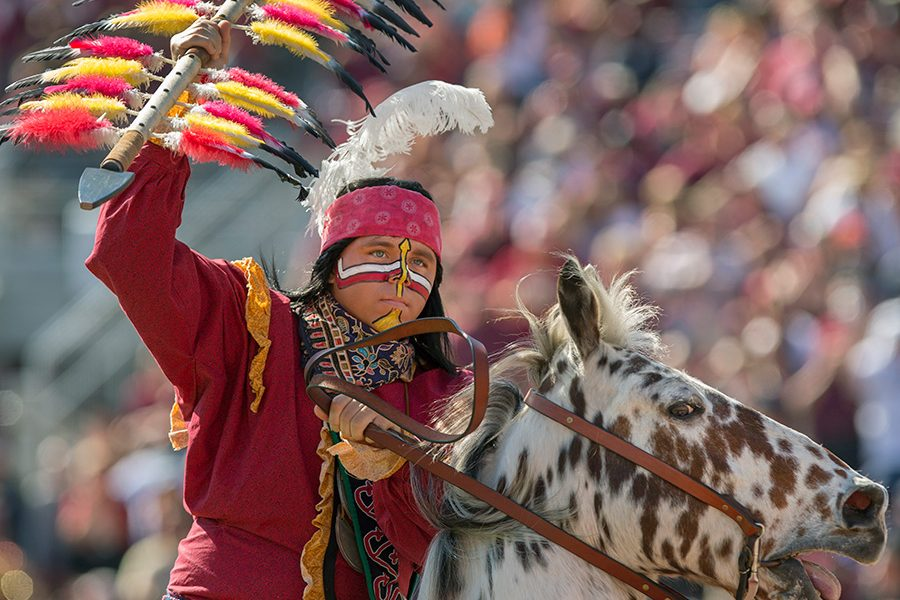 Osceola and Renegade, a Florida State University tradition.