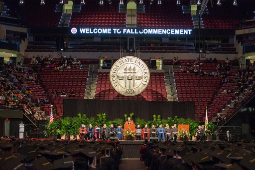 Florida State University's 2017 fall commencement. (FSU Photography Services)