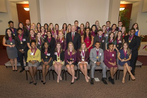 Florida State University welcomed 53 new inductees into its prestigious Garnet & Gold Scholar Society this fall. (Photo: Photography Services)