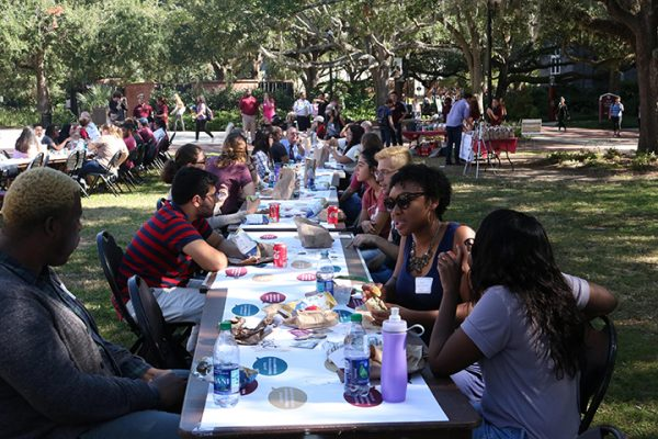 Students came from across campus to join together and break bread at the Power of WE's Longest Table event. (Photo: FSU Social Media)