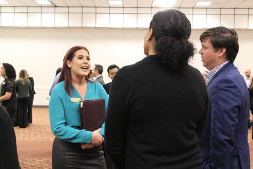 Alena at Seminole Success Night last night. (Photo: FSU Career Center)