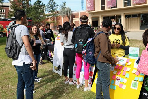 Students came out to enjoy the festivities and learn about mental health during Fresh Check Day. (Photo: University Communications)