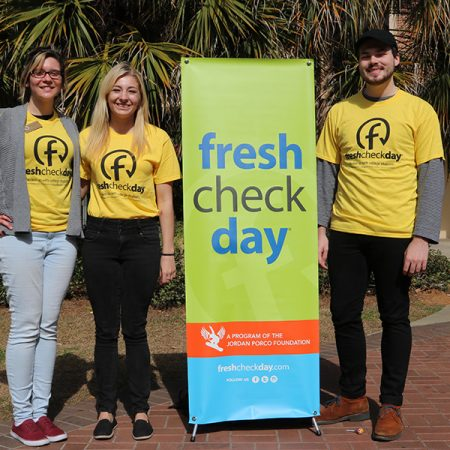 Students came out an enjoyed interactive games and food, while learning about mental health during Fresh Check Day. (Photo: University Communications)