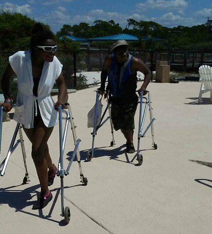 Past scholarship winners enjoying their Rish Park vacations. (Photo: Florida Disabled Outdoor Association)