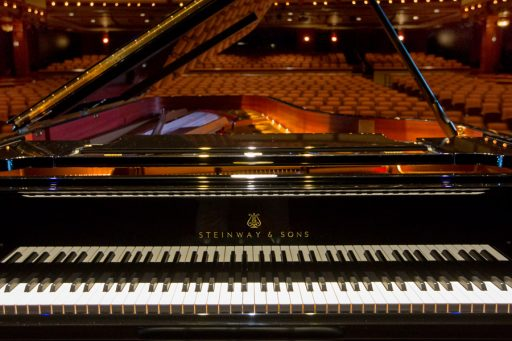 New Steinway Piano in Ruby Diamond Concert Hall, 2018 (FSU Photography Services)