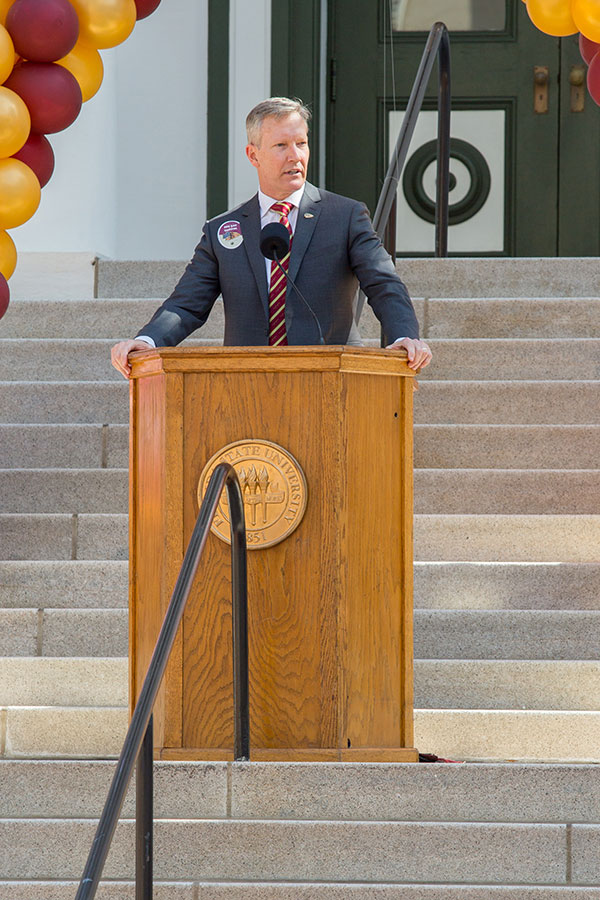 Billy Francis, director of the Student Veteran Center, speaks during FSU Day at the Capitol Feb. 6, 2018. (FSU Photography Services)