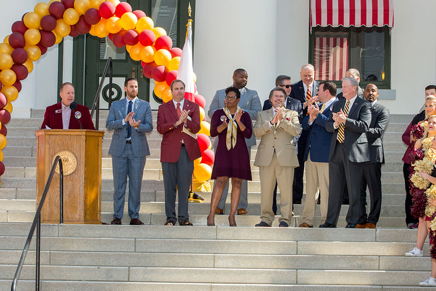 FSU alumni legislators recognized during FSU Day at the Capitol Feb. 6, 2018. (FSU Photography Services)