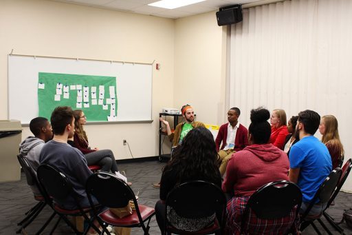 Multicultural Leadership Summit participants talk about what they've learned during a small group session. (Photo: Rachel Mulcahy)