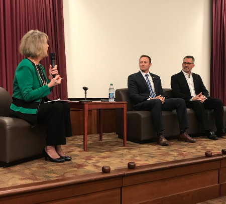 Congressmen Patrick Murphy (D-Florida) and David Jolly (R-Florida) joined the Power of WE and The Village Square for the third installment of the Power of WE's Shared Spaces Series Feb. 13.