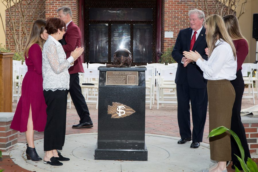 Scott Speicher Memorial unveiling, Feb. 16, 2018. (FSU Photography Services)