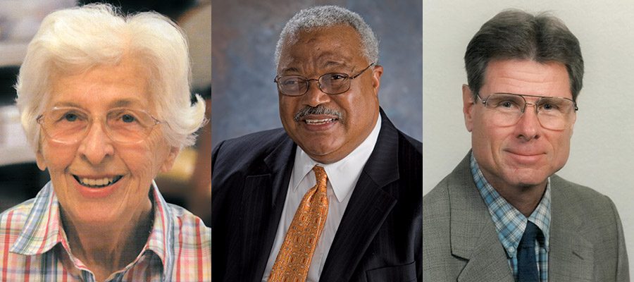 Persis Rockwood, Melvin Stith and Edward McIntyre are the 2018 Charles A. Rovetta Faculty Hall of Fame inductees.