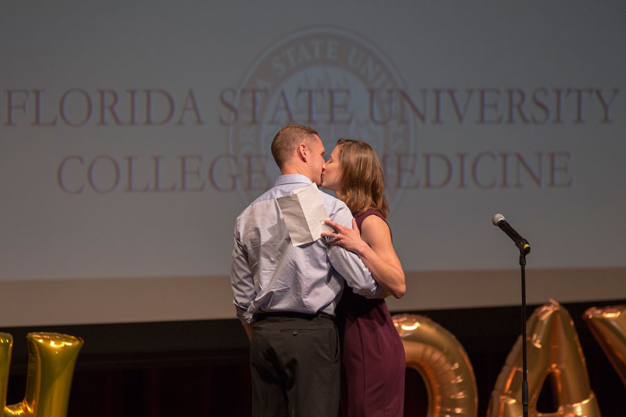 FSU College of Medicine's annual Match Day Friday, March 16, 2018. (FSU Photography Services)
