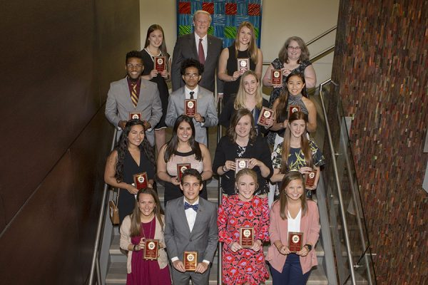 FSU President John Thrasher and Vice President for Student Affairs Amy Hecht recognized 15 of these humanitarian heroes for their tremendous commitment to service at a luncheon Wednesday, March 21, as part of the annual President's Humanitarian of the Year program. (Photo: FSU Photography Services)