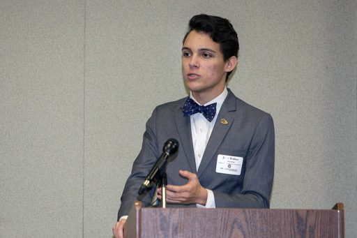 College of Criminology & Criminal Justice junior John Walker addressed the group with an inspiration story about turning pain into hope. (Photo: UC Photography Services)