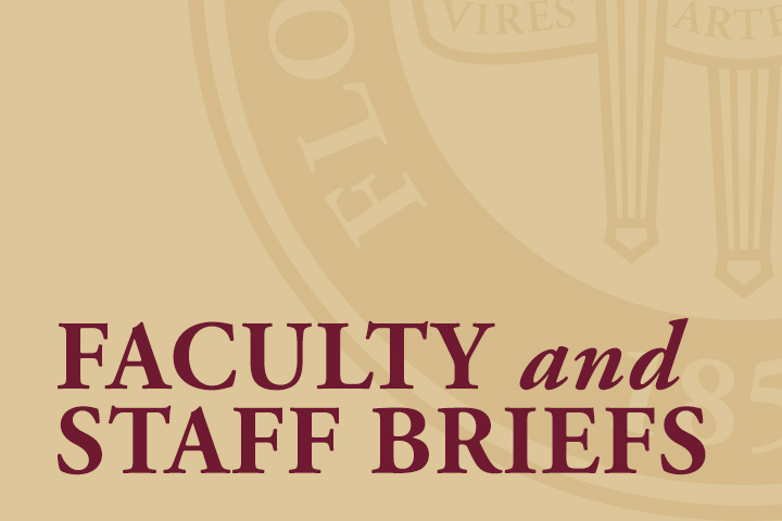 Faculty and Staff Briefs: November 2019