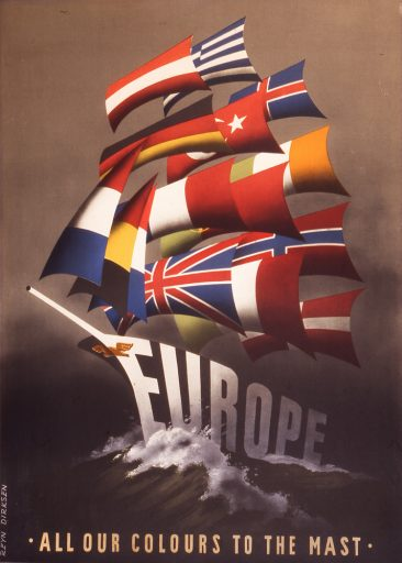 A 1950 poster created by Dutch artist Reijn Dirksen in support of the Marshall Plan.